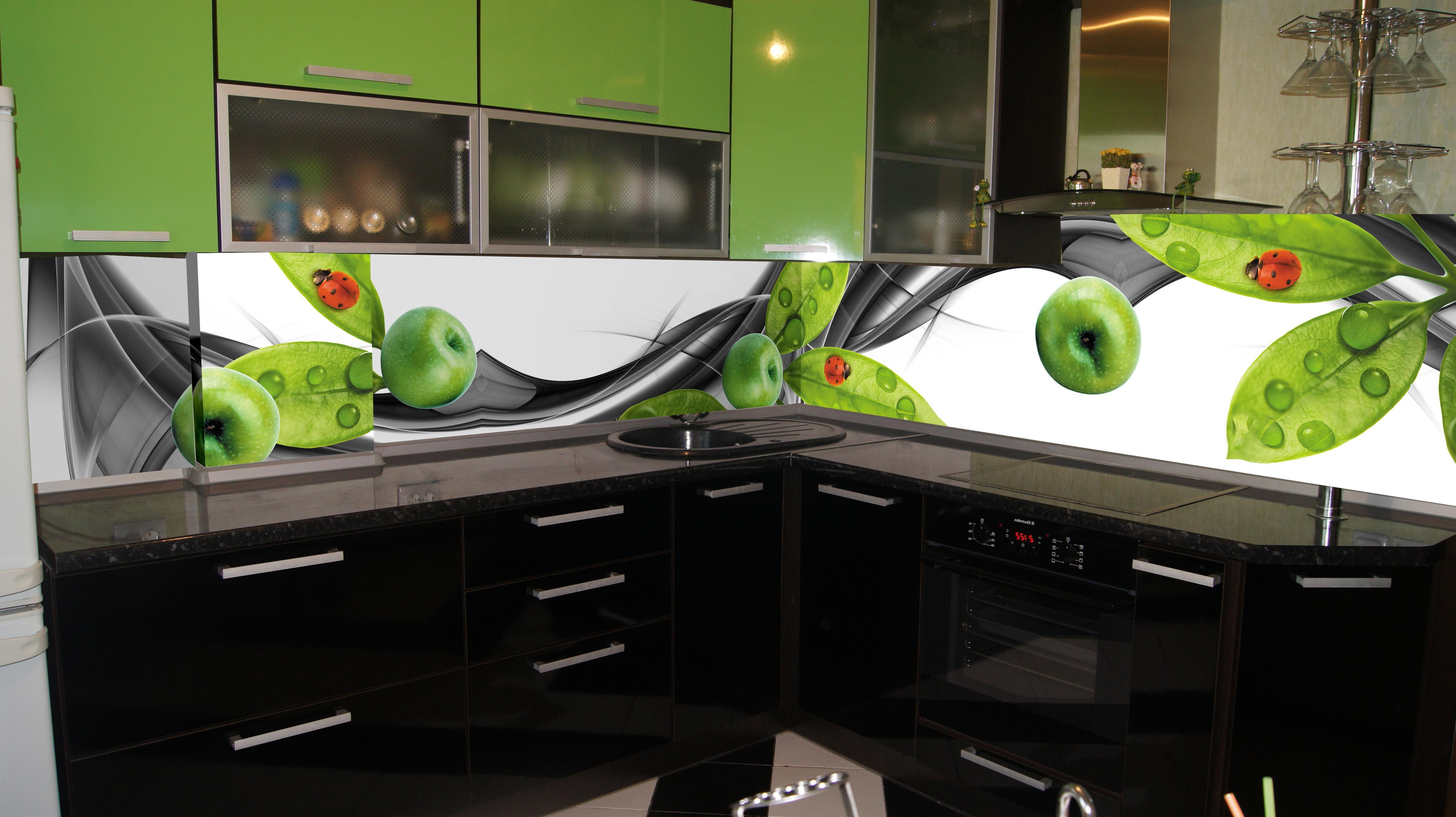 Стеклянные фартуки – купить для кухонной стены